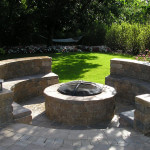 Paver Patio With Built-In Firepit