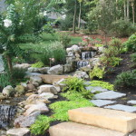 Pondless Waterfall & Natural Stone Steps