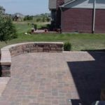 Belgard Patio with Sitting Wall