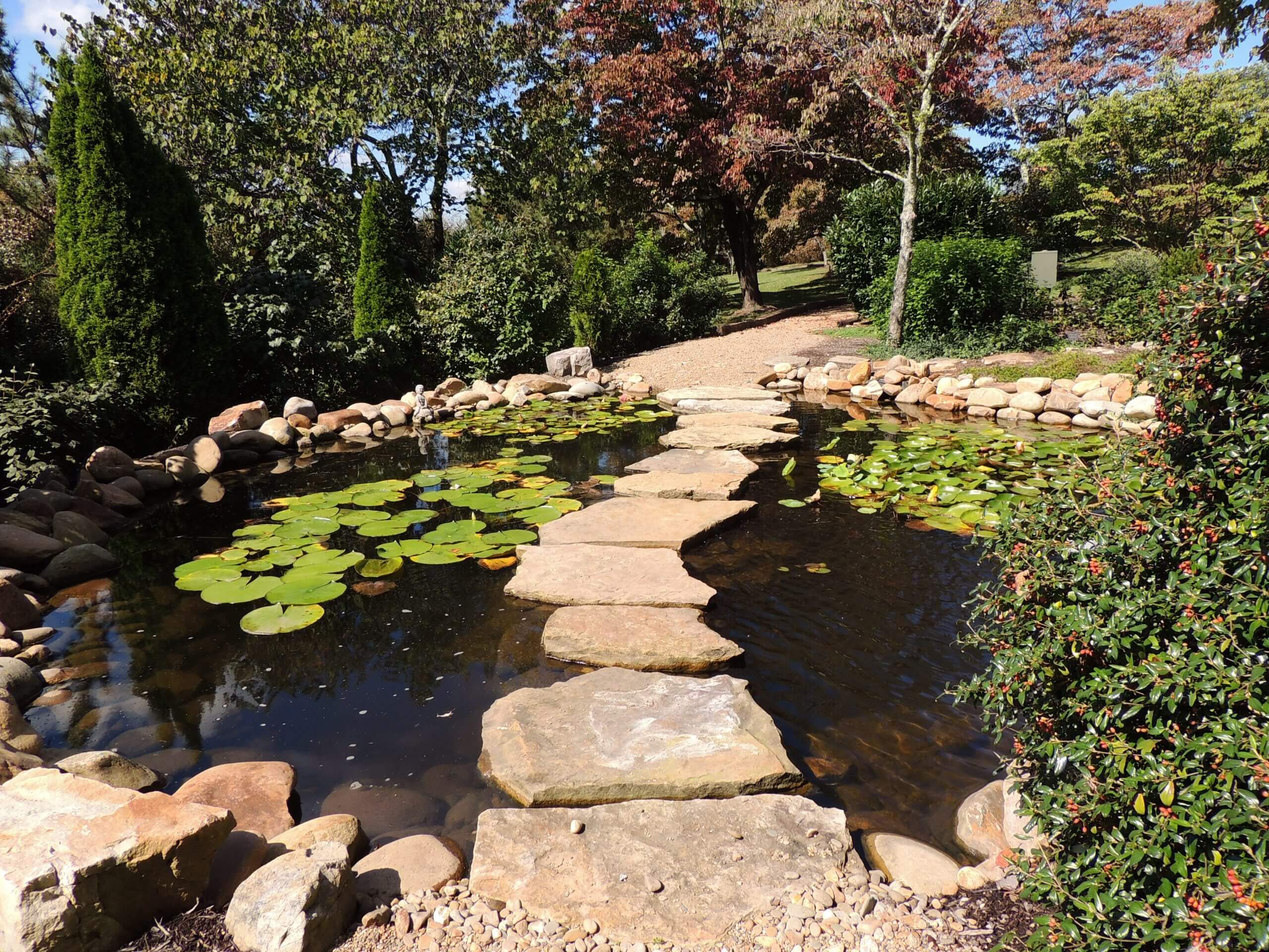 Earthen Bridge with Stepping Stones in Fountain City area of Knoxville