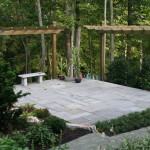 Natural Stone Patio & Cantiliever Arbors