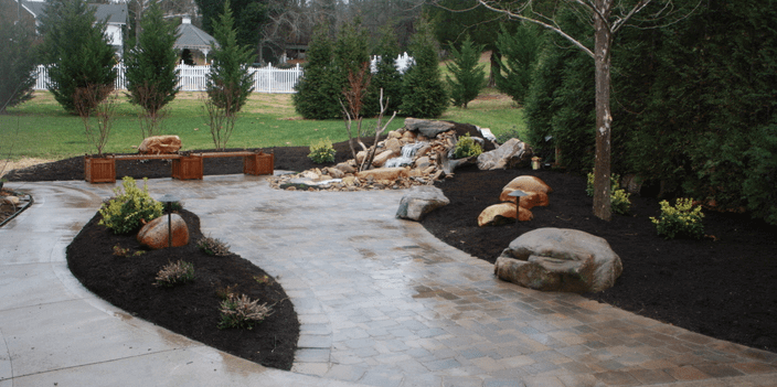 mulch garden beds