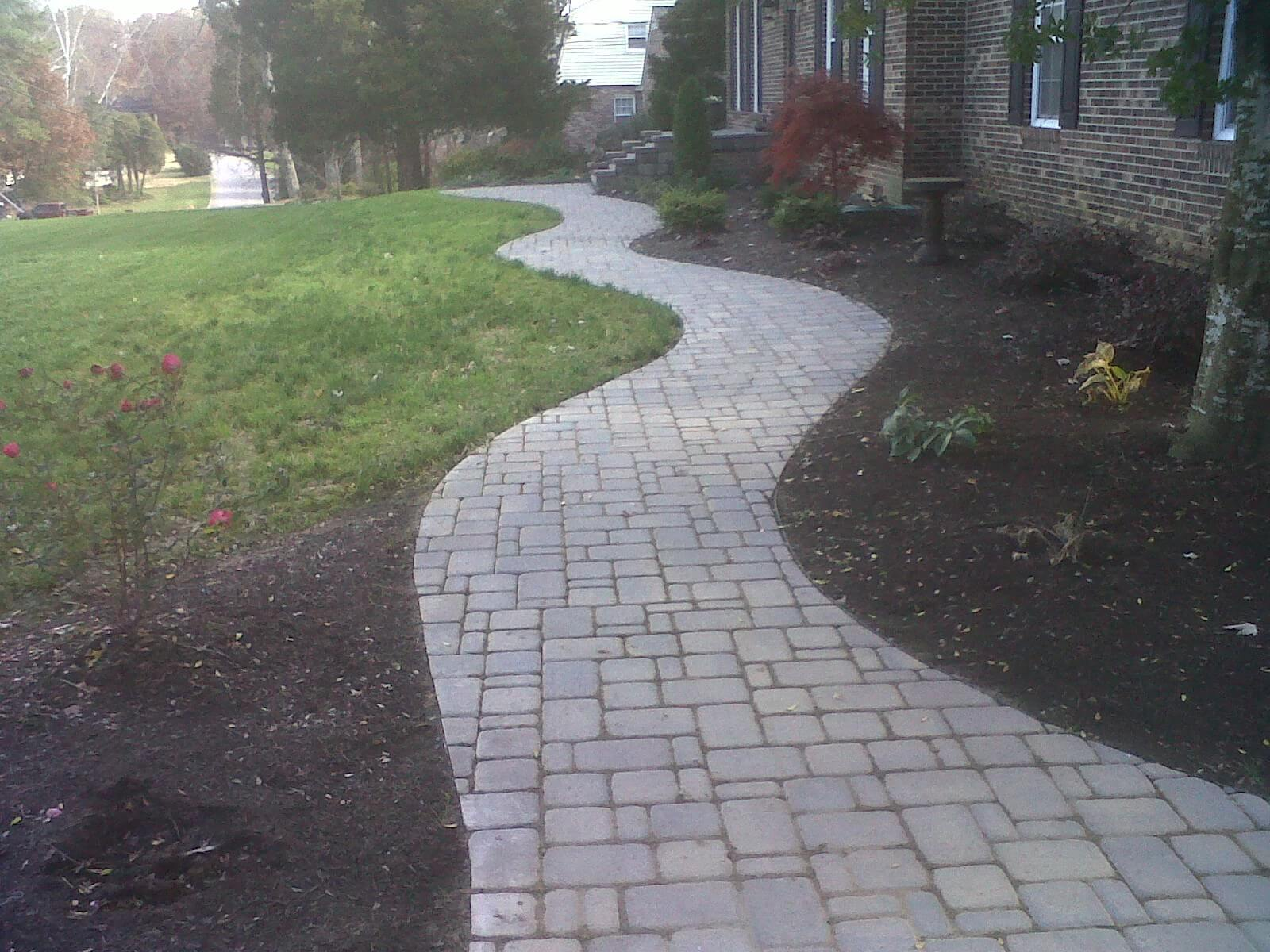Paver Sidewalk In West Knoxville Tn