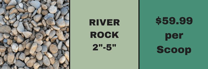 "river rock 2""-5"""