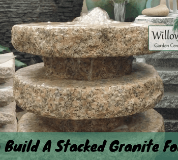 stacked granite fountain