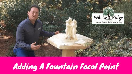 fountain focal point