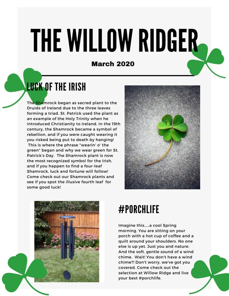 Willow Ridger - March 2020 page 1